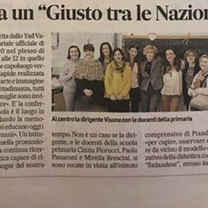 """La Scuola Adotta Un """"Giusto Tra Le Nazioni"""""""