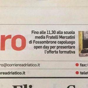 Corriere Adriatico Dell'11 Gennaio 2020
