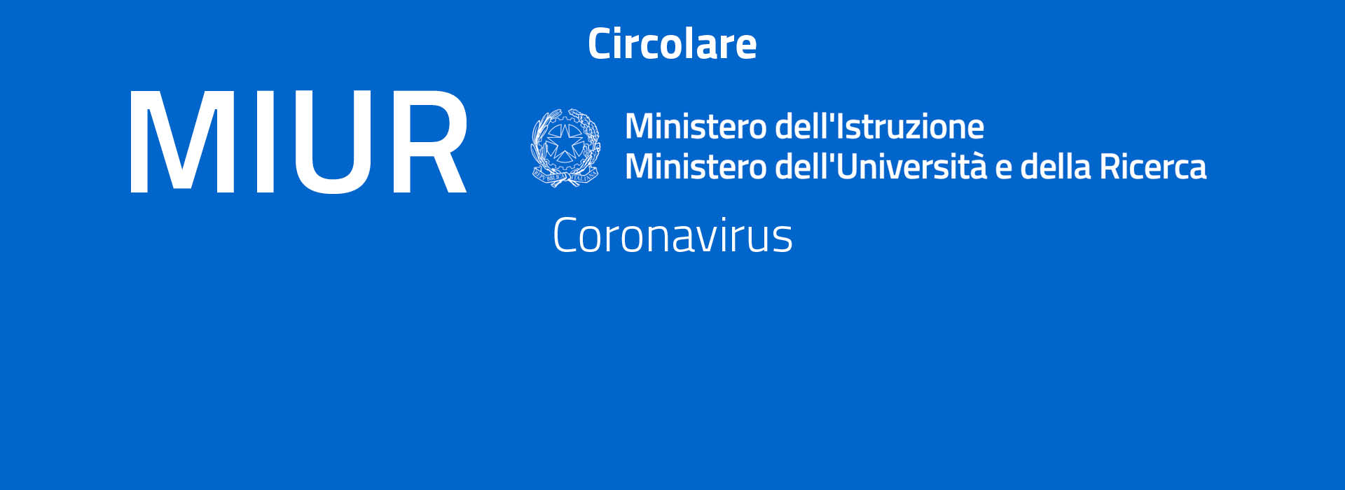 Circolare MIUR Coronavirus