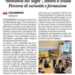 """""""Biblioteca Dei Sogni"""", Lettura A Scuola. Percorso Di Curiosità E Formazione"""
