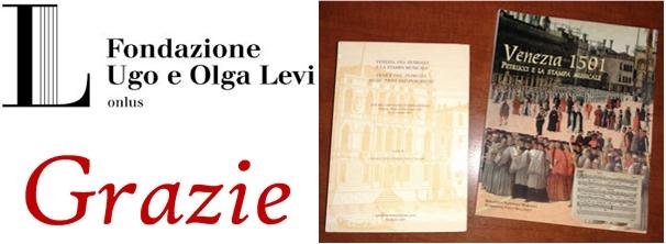 Ringraziamento Alla Fondazione Ugo E Olga Levi